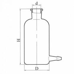 Склянка с тубусом 0,3л (исп. 3) ГОСТ 25336-82