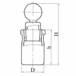 Стаканчик СВ 34х12 мм для взвешивания высокий