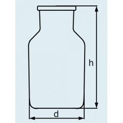 Бутыль DURAN Group 1000 мл, NS60/46, широкогорлая, без пробки, коричневое силикатное стекло