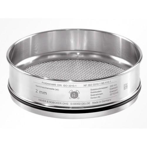 Сито лабораторное Haver & Boecker с тканым полотном из нерж. стали, диаметр 200 мм, высота 50 мм, размер ячейки 19 мм