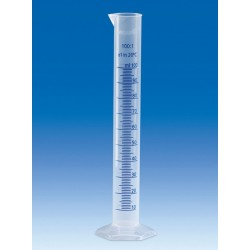 Цилиндр мерный VITLAB, 10 мл, класс B, синяя шкала, PP
