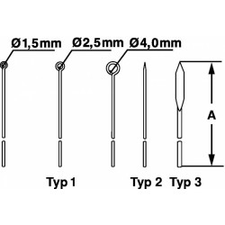 Игла микробиологическая Bochem, тип 2 мм, длина 100 мм, нержавеющая сталь