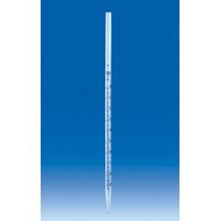 Пипетка VITLAB градуированная на полный слив, 1 мл, PP, 12 шт/упак