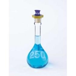 Колба мерная Kimble 20 мл, класс A, прочная, с пластиковой пробкой, светлое стекло (Артикул 92812P-20)
