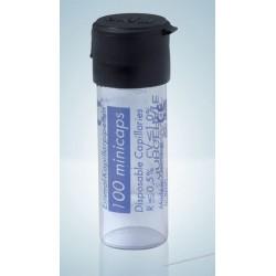 Одноразовые капиллярные пипетки Hirschmann minicaps, 100,0 мкл, не гепаринизированные, end-to-end, стекло DURAN