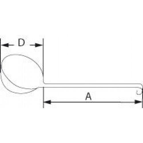 Черпак Bochem с плоской ручкой, 1000 мл, длина 350 мм, диаметр 160 мм, нержавеющая сталь