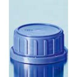 Крышка DURAN Group GL32 K, винтовая, безопасная, резьба синяя, PP