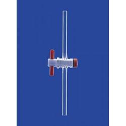 Кран одноходовой Lenz NS12,5, диаметр отверстия 1,5 мм капилляр, PTFE