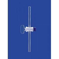 Кран одноходовой Lenz NS12,5, диаметр отверстия 1,5 мм капилляр, стекло