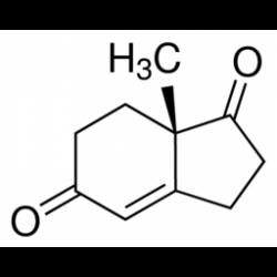 (S)-(+)-2,3,7,7a-тетрагидро-7a-метил-1H-инден-1,5(6H)-дион, 90%, Acros Organics, 1г
