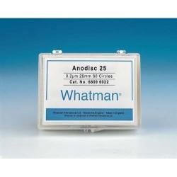 6809-6012 Мембранные фильтры, неорганические, Anodisc 25, диаметр 25 мм, поры 0,1 мкм, 50 шт/упак